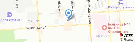 Детский сад №221 на карте Краснодара