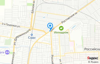 Местоположение на карте пункта техосмотра по адресу г Краснодар, ул Ростовское Шоссе, д 52/1