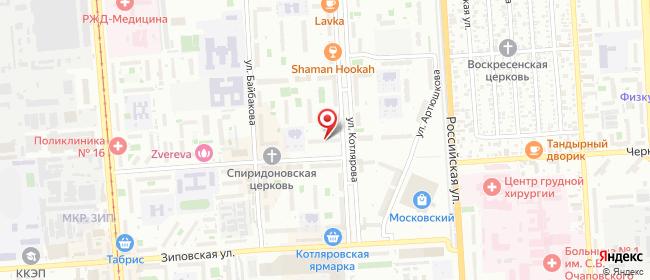 Карта расположения пункта доставки Краснодар Карякина в городе Краснодар