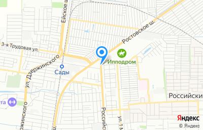 Местоположение на карте пункта техосмотра по адресу г Краснодар, ул Российская, д 782А