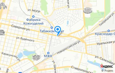 Местоположение на карте пункта техосмотра по адресу г Краснодар, ул Северная, д 594