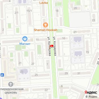 г. Краснодар, ул. Котлярова, на карта