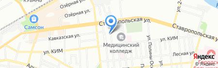 СВВ на карте Краснодара