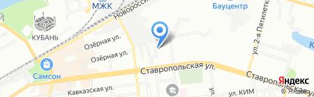 ГруппИнвестСтрой на карте Краснодара