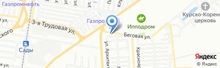 Аэлита на карте Краснодара