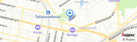 Май на карте Краснодара