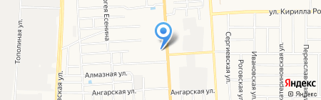 Вальс на карте Краснодара