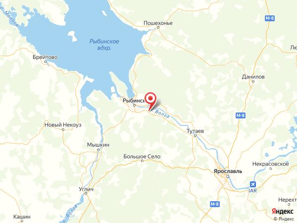 поселок Ермаково на карте