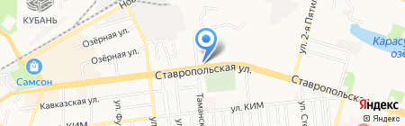Пятёрочка на карте Краснодара