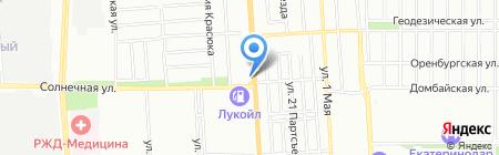 Вечерний Краснодар на карте Краснодара