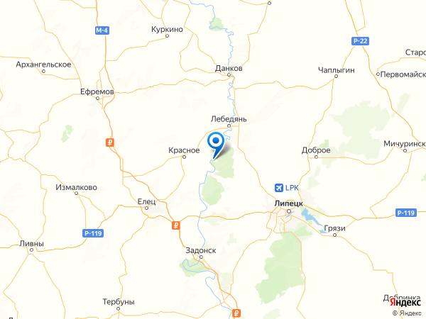 поселок Донской на карте