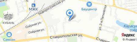 Сусварен на карте Краснодара