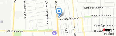 Кубанская перспектива на карте Краснодара