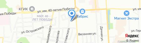 Деан на карте Краснодара