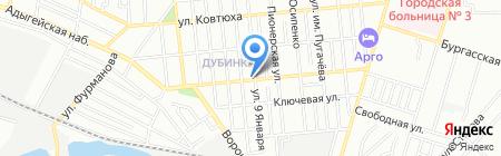 Весна на карте Краснодара