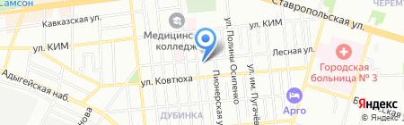 Reтушь на карте Краснодара