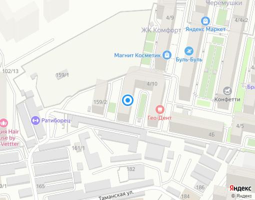 Управляющая компания «Зеленый квартал» на карте Краснодара