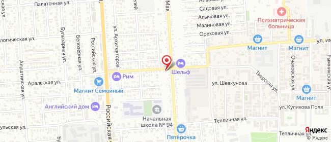 Карта расположения пункта доставки Краснодар Тенистая в городе Краснодар