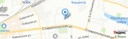 Детский сад №92 на карте Краснодара