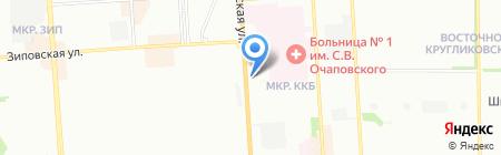 Кристалл-Юг на карте Краснодара