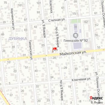 г. Краснодар, ул. Майкопская,41 на карта