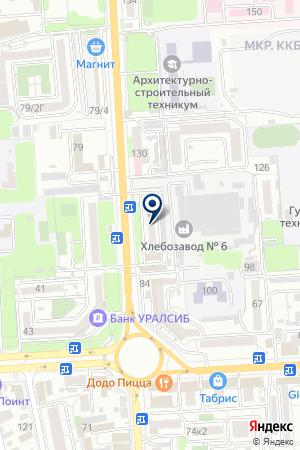 Лазалка на карте Краснодара
