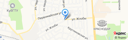 Mustang на карте Краснодара