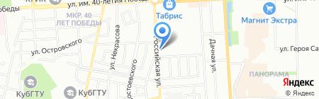 Рыболов на карте Краснодара