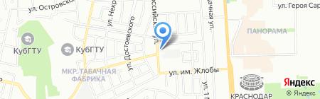 Сауна-юг на карте Краснодара