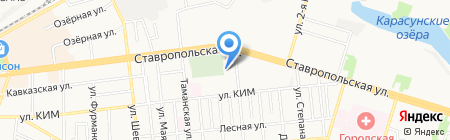 Орхидея на карте Краснодара