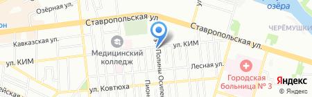 Минимаркет на ул. Полины Осипенко на карте Краснодара