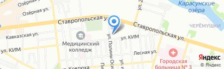 Детский сад №70 Берёзка на карте Краснодара