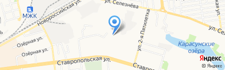 Веза на карте Краснодара