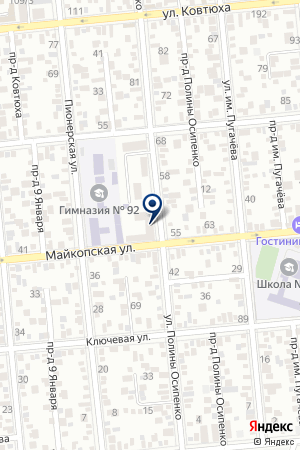 ПАРИКМАХЕРСКАЯ ЖИЛЬЦОВ Д.Г. на карте Краснодара