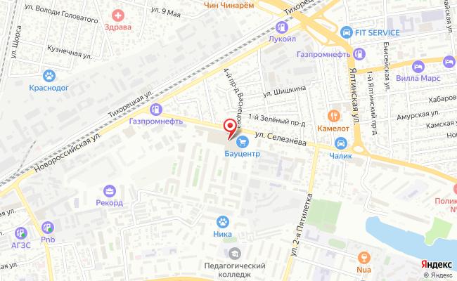 Карта расположения пункта доставки Сервисный центр по обслуживанию электронной техники/Пункт выдачи заказов в городе Краснодар