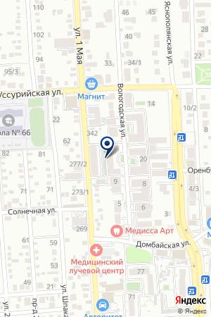 Продовольственный магазин на Вологодской на карте Краснодара