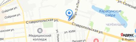 Фишка на карте Краснодара
