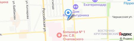 Вираж на карте Краснодара
