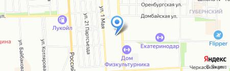 Анаида на карте Краснодара