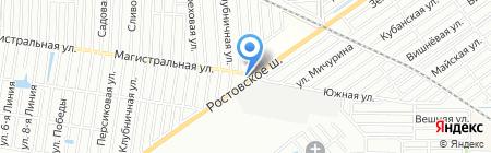 Аква-Фон на карте Краснодара