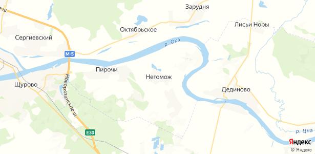 Негомож на карте