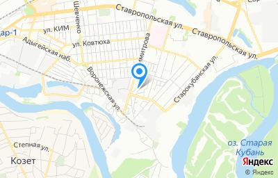 Местоположение на карте пункта техосмотра по адресу г Краснодар, ул Воронежская, д 47/3