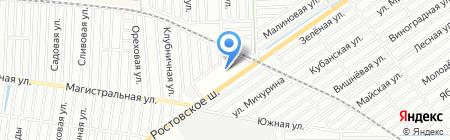 ЮРТО-ТРАКЦЕНТР на карте Краснодара
