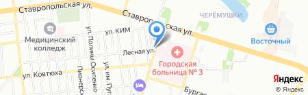 Шакти на карте Краснодара