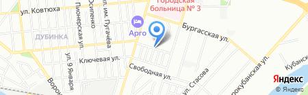 Резон на карте Краснодара