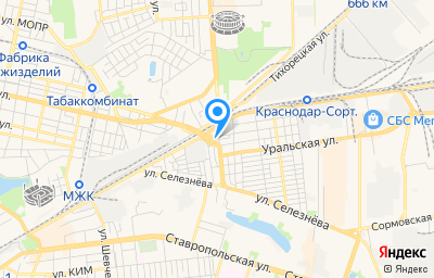 Местоположение на карте пункта техосмотра по адресу г Краснодар, ул Ялтинская, д 73