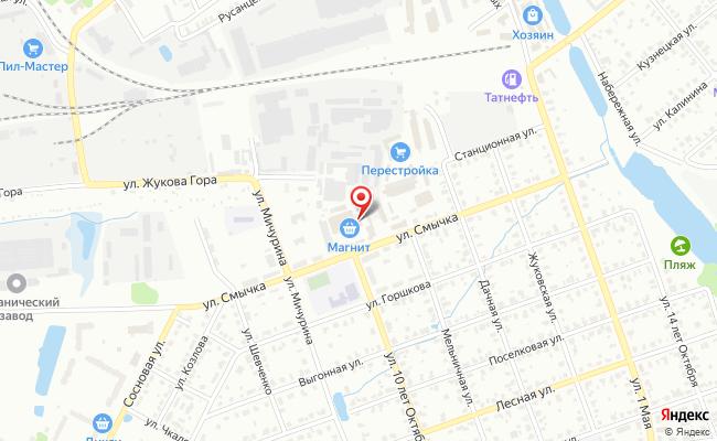 Карта расположения пункта доставки DPD Pickup в городе Егорьевск