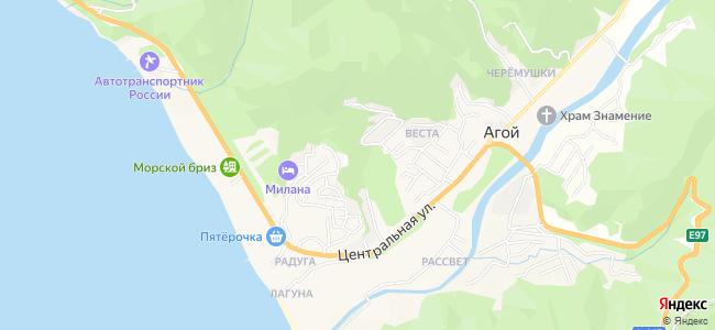 Агой - объекты на карте