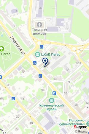 ЕГОРЬЕВСКИЙ ПИВО-БЕЗАЛКОГОЛЬНЫЙ ЗАВОД на карте Егорьевска