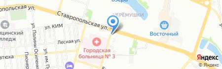Время-Деньги на карте Краснодара